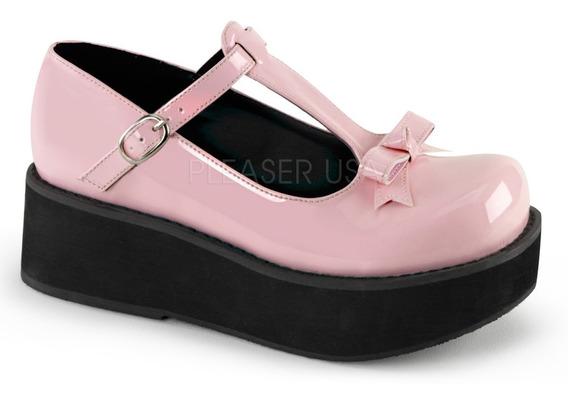 Zapatos Negros Plataforma Demonia Sprite-03 Lolita Goth Punk