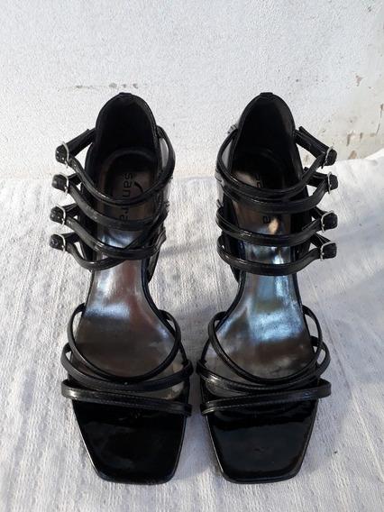 Sapato Sandália Aberta Salto Alto Agulha Fino N°36 Cod 2109