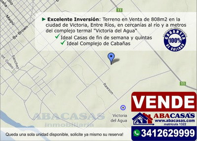 En Cercanías Del Río! Terreno En Venta En Victoria, Entre Ríos.