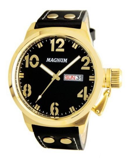 Relógio Magnum Masculino Analógico Couro Ma32783u