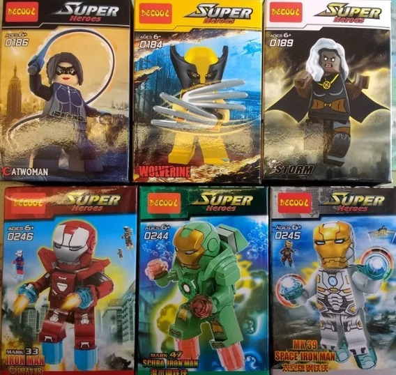 Legos Avengers Capitan America Batman Ironman Liga Justicia