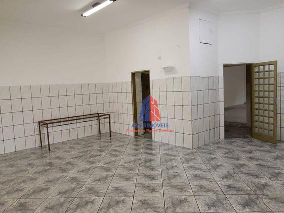 Salão Para Alugar, 150 M² Por R$ 2.000/mês - Jardim São Paulo - Americana/sp - Sl0075