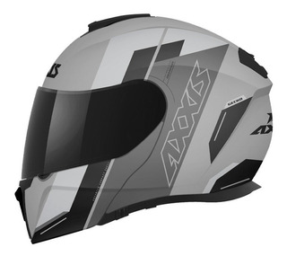Casco Abatible Axxis Gecko Foxy A2 Ece 2205 Dot Gris Oxford