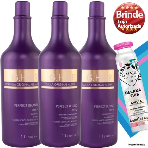 Kit Ghair Alemã Perfect Blond Progressiva Matizadora (3x1 Li