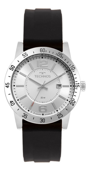 Relógio Technos Masculino Analógico Prata Caixa Aço