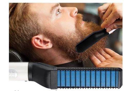 Plancha Barba Cepillo Alisador Cabello Hombre 4 En 1 Peine