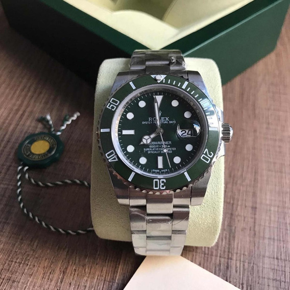 Relógio Submariner ,automático,safira,acabamento Suíço