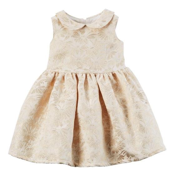 Carters Vestido Bebe Fim De Ano E Casamento Dourado