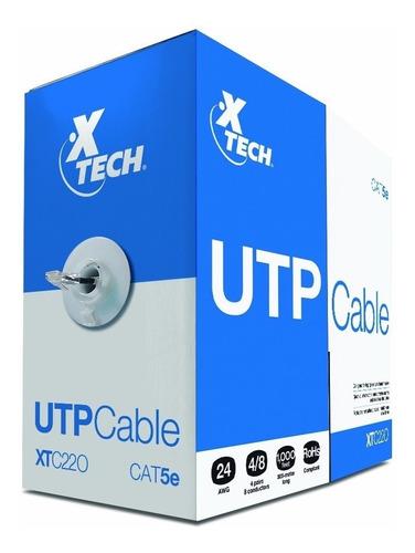 Imagen 1 de 1 de Cable Xtech Xtc-220 Utp Cat5e 305m Gris Interiores
