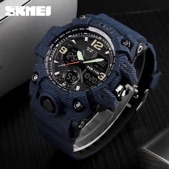 Relógio Masculino Skmei 1155 Esportivo Tipo Militar A Prova