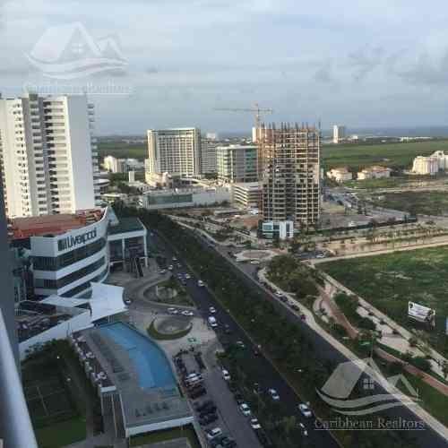 Departamento En Renta En Cancún/ Malecon Ámericas/ Torre Montevideo