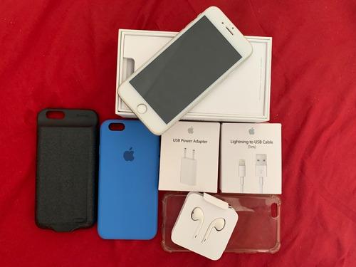 iPhone 6s 64gb Com Acessórios E Case Bateria Baseus