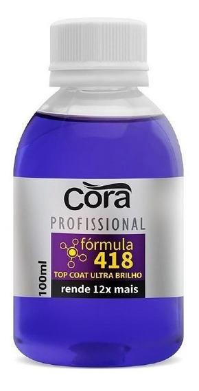 Esmalte Cora - Top Coat Ultra Brilho Fórmula 418 100ml