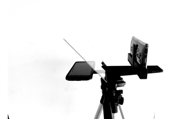 Teleprompter Suporte Celular + Adaptador Celular- Youtubers