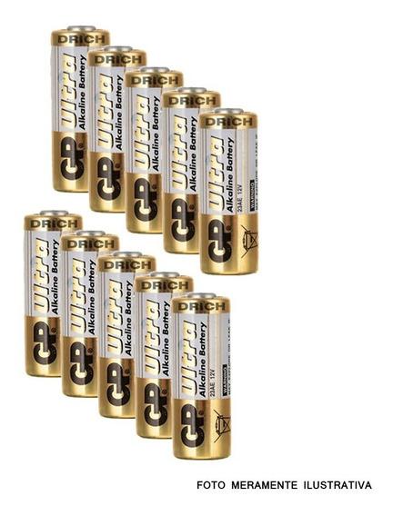 Bateria Pilha A23 Controle Remoto Portão Alarme 10 Unidades