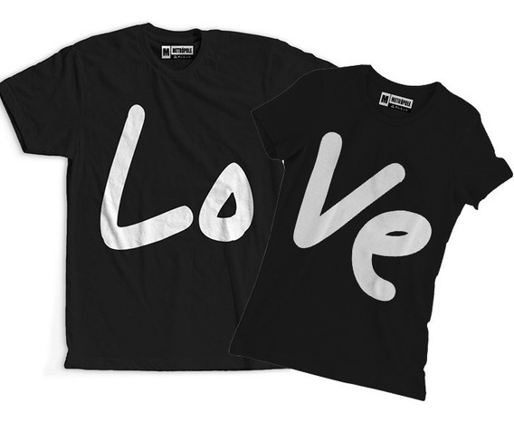 Conjunto Blusa Camiseta Namorados Casal Feliz Amor Love