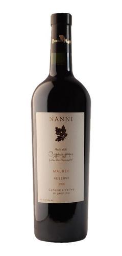 Vino Organico Nanni Malbec Reserva X 6 Bot - Tienda Oficial