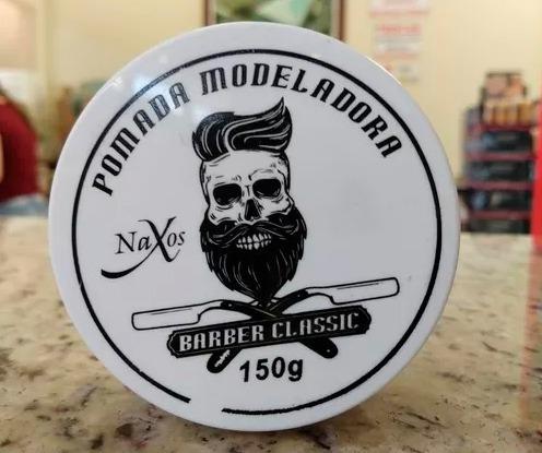 Kit 24 Pomadas Modeladora Barber Classic 150 G Naxos
