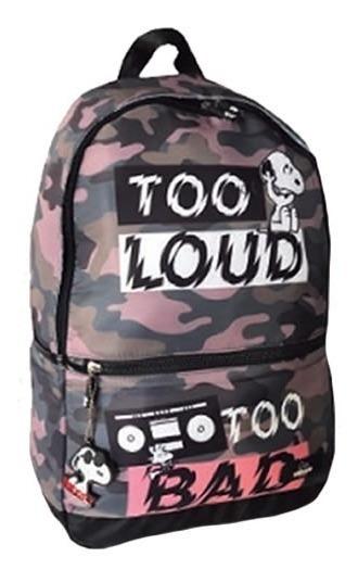 Mochila Snoopy Back To School Snp5302 Color Militar Tio Musa
