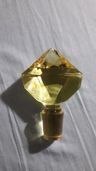 Tapón De Cristal Amarillo 10 Cm. De Alto