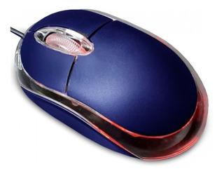Mouse Alambrico Color Azul Marca Atvio