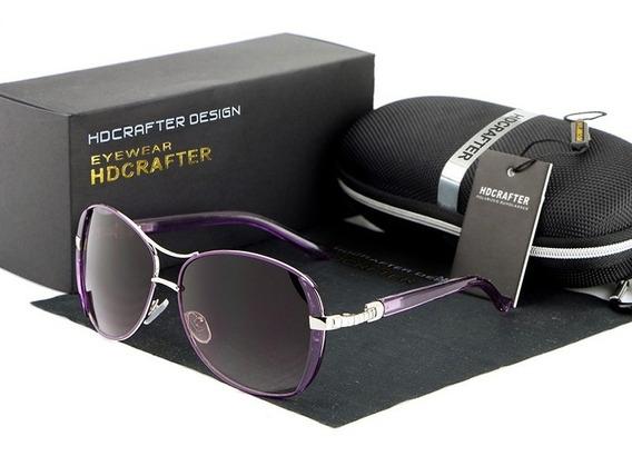 Óculos De Sol Feminino Hdcrafter® Com Proteção Uv400- Oferta