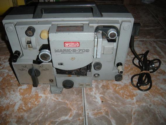 Antigo Projetor Eumig - Modelo Mark S-709 - Ligando.