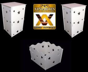 Par De Cubos+ Caixa De Presente Estrelas Em Mdf 6mm Pintado!