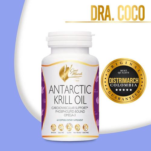 Imagen 1 de 4 de Aceite Krill Antarctic Oil Dra Coco March Distrimarch