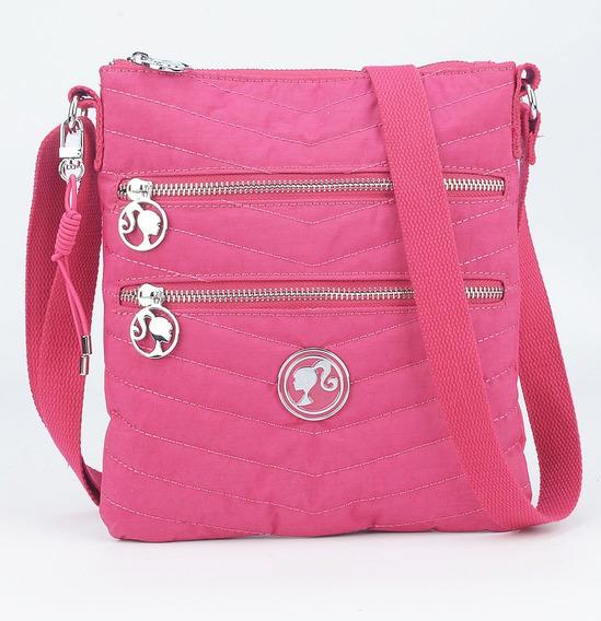 Bolsa Feminina Transversal Crinkle Pink Barbie 67169 Oferta
