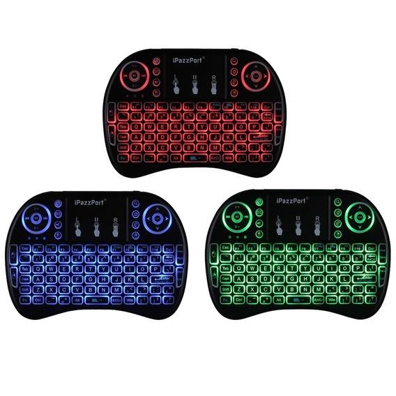 Mini Teclado Touchpad S/ Fio Usb Smart Tv Box Ps3 Xbox Led