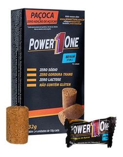 Paçoca Rolha Power One Zero Caixa Com 24 Unid Envio 24h