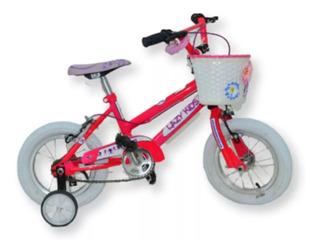 Bicicleta Rodado 12 Nena Canasta Flores Timbre Cam + Cub