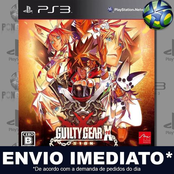 Guilty Gear Xrd Sign Ps3 Digital Psn Promoção Pronta Entrega