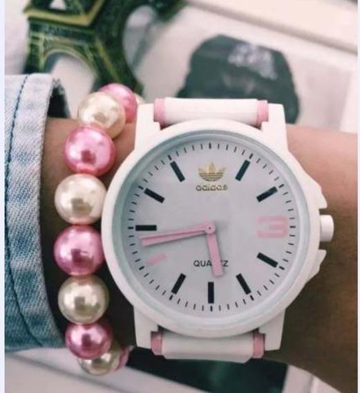 Kit 10 Relógios Adid Collors + Caixinhas + Pulseiras