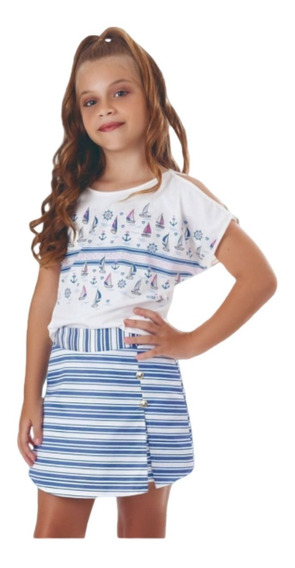 Roupa Juvenil Feminino Infantil Luxo Para Festa Modinha