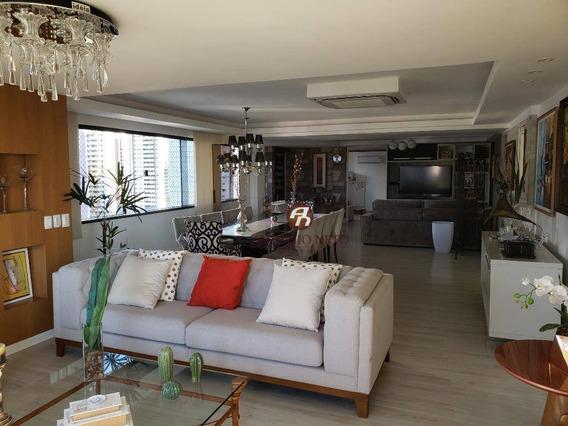 Cobertura Duplex, Vista Mar Com Mobília De Luxo Á Venda No Meireles, Recebemos Carro E Imóvel De Menor Valor.. - Ap0390