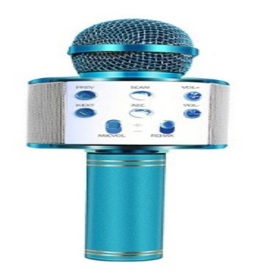 Microfone Sem Fio Bluetooth Usb Karaoke Youtuber Reporter