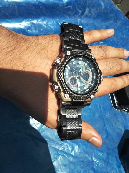 Reloj Dynamic, Resistente Al Agua Luz Led, Estilo Militar
