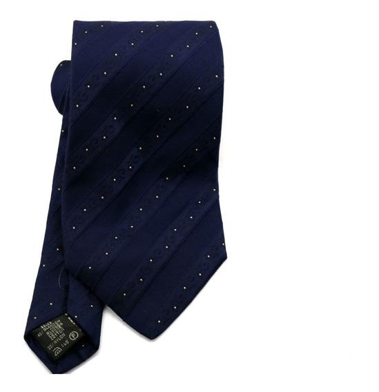 Gravata Azul Marinho Listra Com Flores Padrinho Social B0388