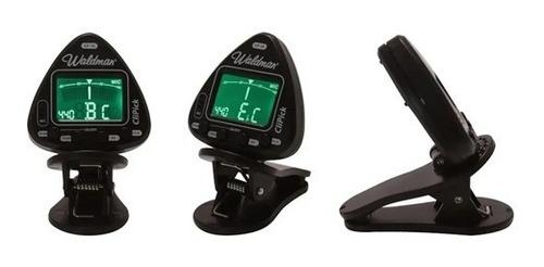 Afinador Clip Instrumentos Corda Waldman Clipick Cp-10 Preto