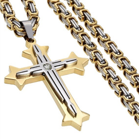 Colar De Pinzente Cruz Crucifixo