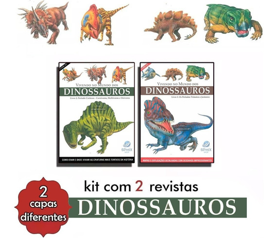 Vivendo No Mundo Dos Dinossauros Coleção Em 2 Volumes Atlas