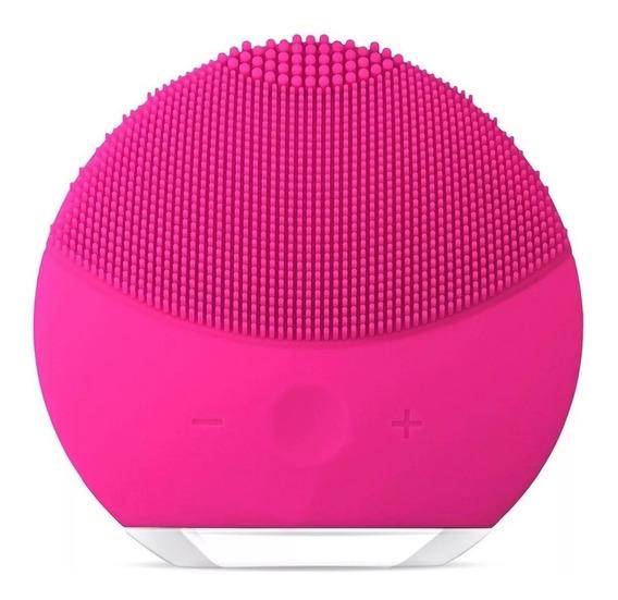 Escova Esponja Limpeza Facial Pink Massageador Elétrico