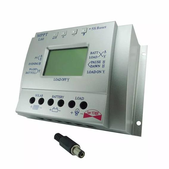Controlador De Carga Energia Solar Mppt L60 60a 12/24v Auto