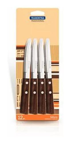 Imagen 1 de 3 de Cuchillo De Postre Tradicional X 12 Unid. Tramontina