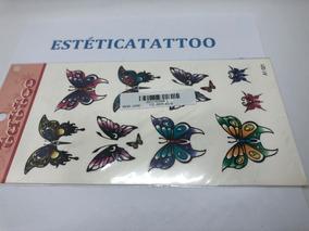 4 Cartelas De Tatuagem Temporária. Frete Grátis Todo Brasil