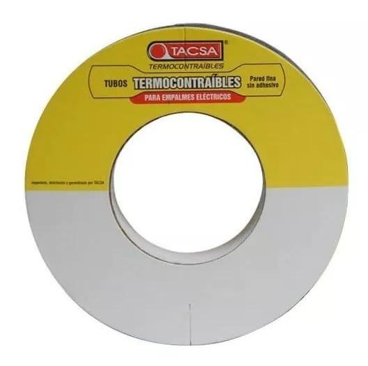 Tubo Termocontraible Pared Fina S/adhesivo 4,8mm 10mt.(3/16)