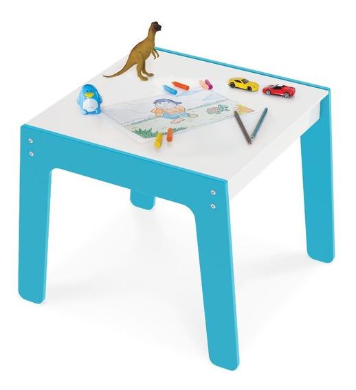 Mesa Mesinha Brinquedo Infantil Azul Mdf P/ Junges 986