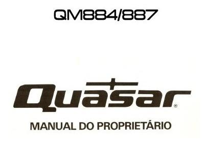 Quasar Qm-884 / 887 Manual De Instruções